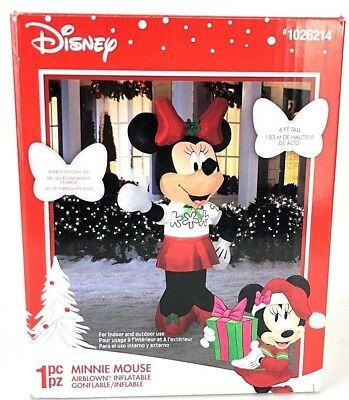 Disney Minnie Mouse Airblown Inflatable Decoration Holiday Christmas Gemmy