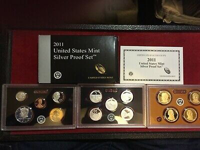2011 S Silver Proof 14 Piece Set, With Box And Coa Plus Presidential Proof Set
