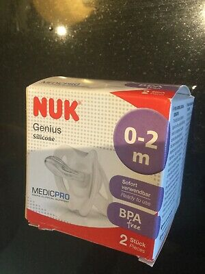 NUK Medic Pro Genius Soother Dummy for Premature and Newborn 0 to 2m Pack of 2