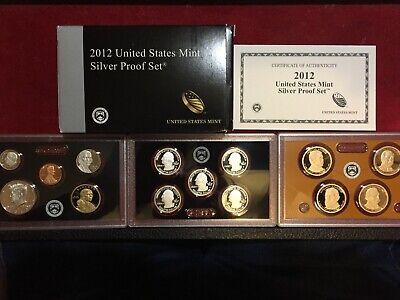 2012 S Silver Proof 14 Piece Set, With Box And Coa Plus Presidential Proof Set