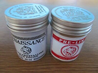 Pre-lim surface cleaner & Renaissance wax 65ml cans Antique Restoration