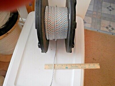 3/16 Samson XLS Sailboat Line- White Blue- Cut lengths 10, 20, 30, 40 or 50 Feet