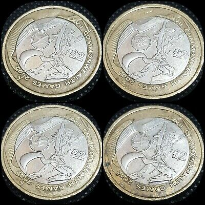 Rare Full Set of  Commonwealth Games 2 pound coins Inc Northern Ireland - 2002