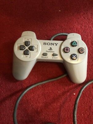 Official Genuine Grey Sony Ps1 Playstation Psone Controller Control Pad - Vgc