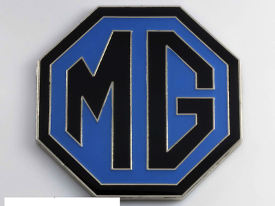 Badge capot coffre Mg bleu noir black blue bonnet boot 65mm grille F TF A B C ZR