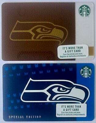 SEATTLE SEAHAWKS - Starbuck Gift Cards 2017 & 2018 - Limited Edition