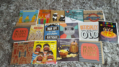 x15 - JobLot Greeting Birthday Cards - Male/Mens- Cellophaned- Bundle2