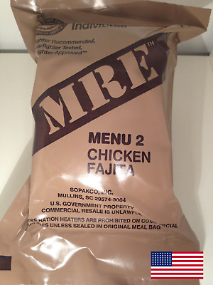 MRE US. RATION COMBAT. MEAL READY TO EAT. MENU 2. uk
