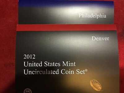 2012P & D Us Mint Uncirculated Coin Set (Minus Native American 1$)