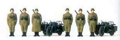 Preiser HO scale WWII German Horse Drawn Ammo Carts w//Soldiers 1939-45  16576