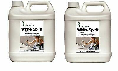 2 X 4 Liter White Spirit Used Paint Linseed Oil Thinning and Brush Cleaning New