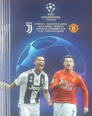2018 JUVENTUS v MANCHESTER UNITED MAN UTD CHAMPIONS LEAGUE PROGRAMME FROM GROUND