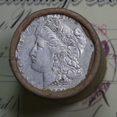 Silver Dollar Roll $20 Morgan Peace 1884 & 1896 End Coins Mixed Date Grades
