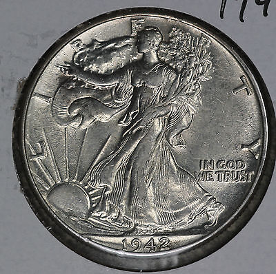 Nice Uncirculated 1942 Walking Liberty Half Dollar!!