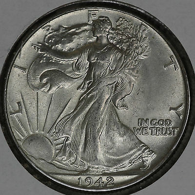 Nice Uncirculated 1942 Walking Liberty Half Dollar!