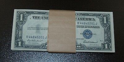Lot of 50 1935F $1 Silver Certificates - Consecutive Serial Numbers!!