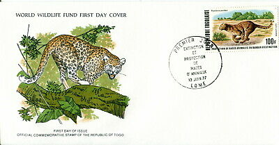 1977 Togolaise. Leopard. World Wildlife Fund. WWF. First Day Cover. Cat