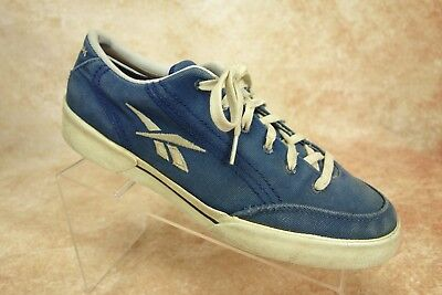 332b5daf00c Reebok Blue Canvas Lace Up Classic Athletic Sneakers Shoes Mens Size 10.5 US