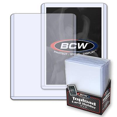 Pack /25 BCW Hard Plastic Baseball Trading Card Topload Holders 12 mil protector
