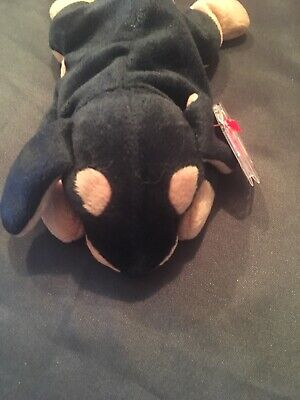 80d27ca6945 VERY RARE Ty Doby Beanie Baby Style 4110 1996 PVC Pellets with TAG ERRORS