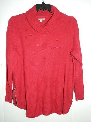 56489abecd12 WJ7525 Lucky Brand Women s Plus Red Turtleneck Sweater NWT Size 1X MSRP  99