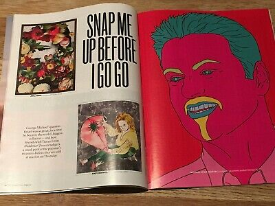 UK Sunday Times Magazine March 2019:  GEORGE MICHAEL FEATURE ON HIS ART