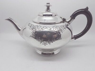 Fantastic - SILVER Plated - Squat Bulbous Tea Pot ~ c1900 - James Dixon