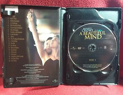 A Beautiful Mind 2-Disc Full Screen Dvd Set  @russell Crowe  @jennifer Connelly
