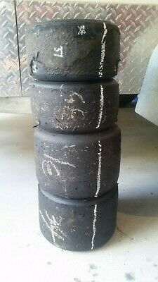 Go Kart - Tyres MG Yellow 1 set USED in good condition #1
