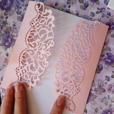 Making Scrapbook Greeting Card Decor Lace Hollow Frame Metal Cutting Dies