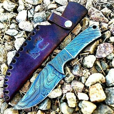 """High Quality 7"""" Handmade Knife Silver Full Tang Damascus Blade Hunting Survival"""