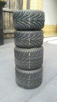 Go Kart - Tyres MG White 1 set USED in good condition #1