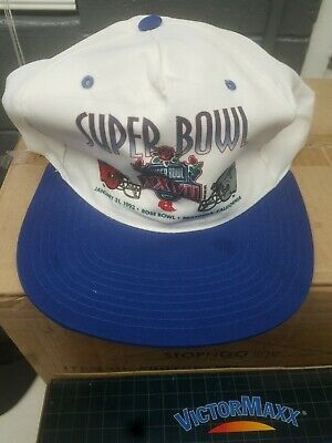 e94ffd52825 Vintage Hat Super Bowl 27 XXVII Snapback Dallas Cowboys Buffalo Bills AFC  NFC