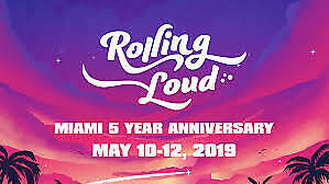 1-8 Rolling Loud Tickets - VIP - 3 Day Pass