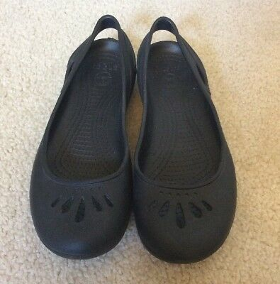 f8f9ed14f2f Women s Crocs Kadee Flats Ballet Flats Sling Back Slide On Shoes Black Size  9