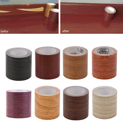 5M/Roll Realistic Woodgrain Repair Adhensive Duct Tape 8 Colors For Furniture