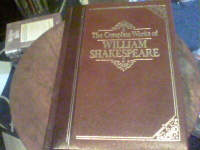 The Complete Works of William Shakespeare leather bound printed by R.R. Donnelle