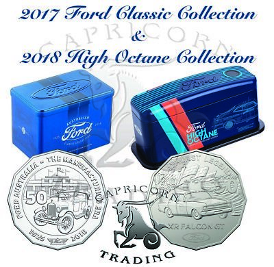2017 Ford Classic 12 Coin & 2018 Ford Legends 7 Coin Collections