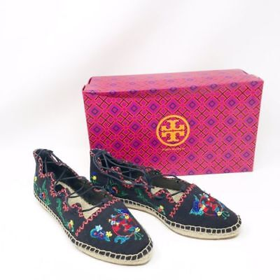 e9676b95ff58 New Tory Burch Womens Sonoma Embroidered Ghillie Flat Espadrille Shoes Sz  6.5 7