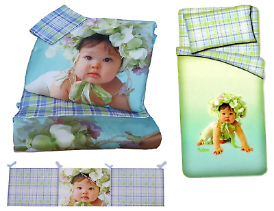 Quilt 300 gr. Crib, Set removable Cot with Pillowcase and bumpers VALERIE 04