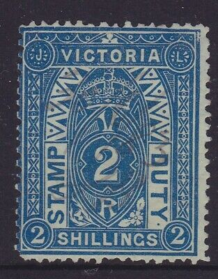 Victoria Rare 1884 2/- Blue Qv Stamp Duty Fine Used Sg 258 (Dm22.3)