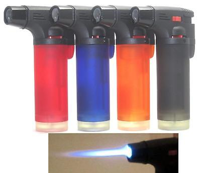Pack of 8 Single Jet Flame Torch Lighter Windproof Refillable Cigarette