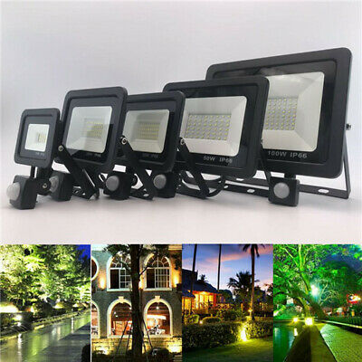 UK LED Dual Security Detector Solar Spot Light Motion Sensor Outdoor Floodlight