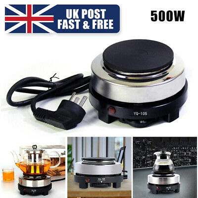 Portable 500W Electric Stove Burner Hot Plate Kitchen Cooker Coffee Tea Heater