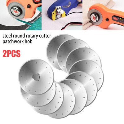 SKS-7 Steel 45mm Durable 2pc Circular Rotary Cutter Blades Cutting Patchwork Hob