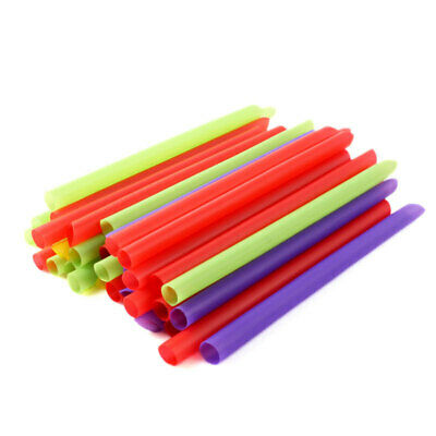 100× Giant Jumbo Big Drinking Straws For Bubble Pearls Tea Party Drink Smoothie