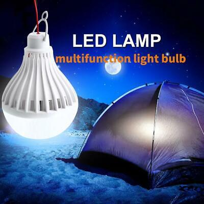 Portable Solar Panel Power LED Light Bulb Lamp for Outdoor Camp Tent 3-12W 2019