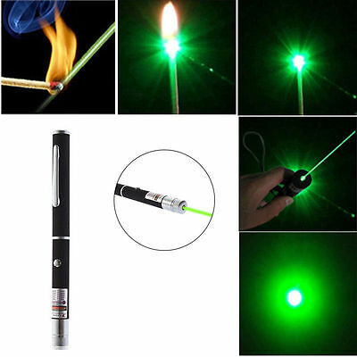Powerful Green Laser Pointer Pen Visible Beam Light 5mW Lazer High Power 532n AU