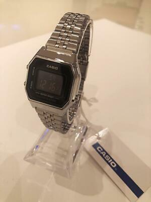 CASIO Retro Classic Unisex Digital A168WA-1YES Watch Black Face Silver Strap