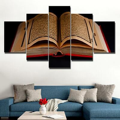 Koran Islamic Scripture Text 5 Pieces canvas Wall Art Print Picture Home Decor